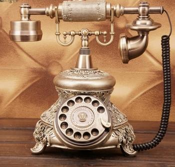 Moda antyczny telefon moda rustykalny w stylu vintage stałe telefon tanie i dobre opinie BINYEAE Przewodowe Telefony corded antique  antediluvian technology