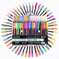 48 Colors Gel Pens Set Refill Pastel Neon Metallic Glitter 1.0MM Sketch Manga for Adult Coloring Drawing School Stationery