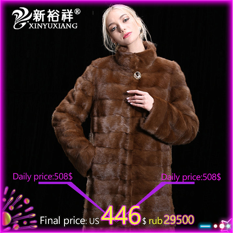 Mode Femmes de Fourrure de Vison Real Manteaux Épais Chaud Personnalisable Hiver De Fourrure de veste Outwear Parka Pour Femme Fille Véritable manteau de fourrure