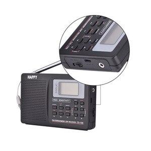 Image 2 - كامل الفرقة AM/SW/LW/TV/FM راديو الصوت استقبال التردد الكامل استقبال راديو FM مع توقيت ساعة تنبيه راديو محمول أسود