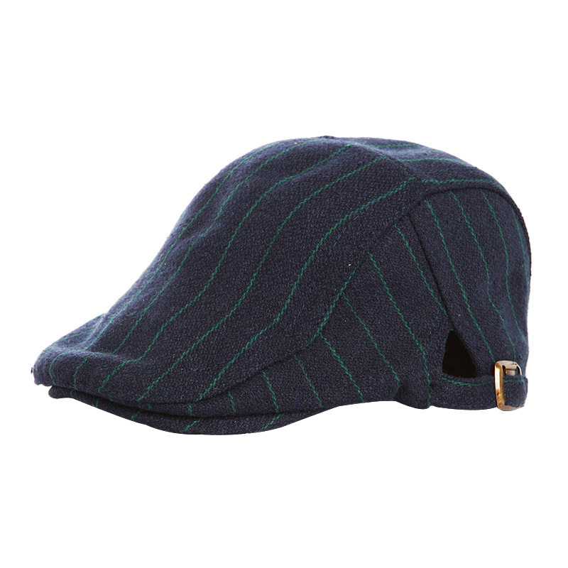 59666ac02bc 1pc Child Hats Striped Fashion Toddler Newborn Baby Kids Boy Striped Beret  Hat Peaked Cabbie Flat Cap New Arrival-in Hats   Caps from Mother   Kids on  ...