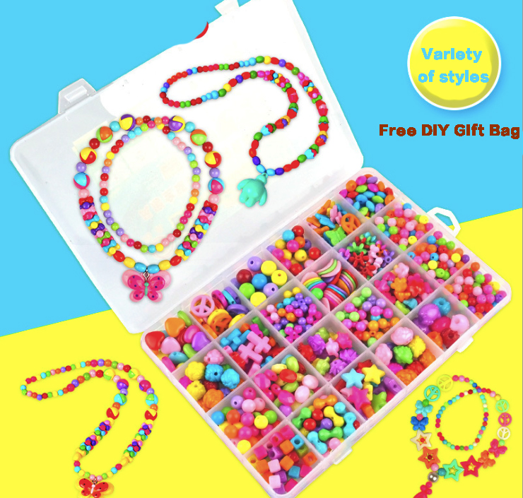 4 Styles DIY 480pcs Beads Children Handmade Beaded Assemble Building Blocks Educational Toys for Girls Jewelry Accessories Kids eva 1 lot 2 pcs hama fuse perler beads 2 6mm big square pegboards connecting pegoard mini hama beads jigsaw puzzle handmade diy