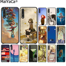 MaiYaCa Reading books Smart Cover Black Soft Shell Phone Case for Huawei P20 pro P20 lite mate9 10 20 lite honor 10 20pro 20x(China)