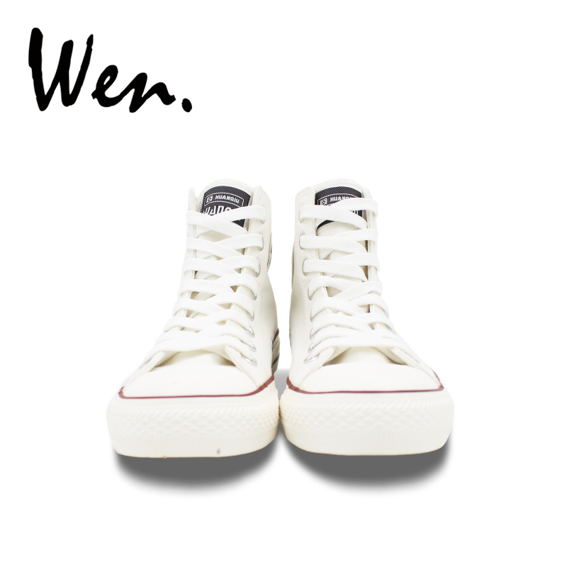 Wen dizajn ručno oslikano bijelo platno cipele ptica kavez muškarci - Tenisice - Foto 5