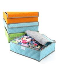 7 клетчатый ящик для хранения покрытый молнией нижнее белье бюстгальтер ящик для хранения носков горячая Распродажа в сезон FC0120