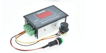 30A cyfrowy wyświetlacz LED 0 ~ 100 regulowany DC 6V 12V 24V 48V regulator prędkości silnika PWM tanie i dobre opinie TCXRE Silnik prądu stałego DC Motor Speed Controller