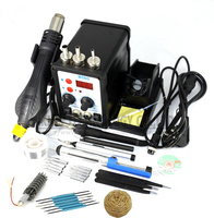 Eakins 8586 2 In 1 ESD Soldering Station SMD Rework Soldering Station Hot Air Gun Set