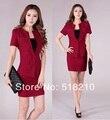 Новые мода красный элегантный Большой размер 4XL профессиональный деловых женщин рабочая одежда костюмы блейзер + юбка формальные экипировка установить S-XXXXL