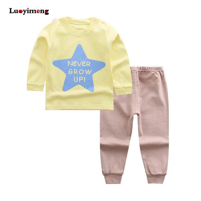 Cartoon Kids Pajamas Sets Cotton Boys Sleepwear Suit Autumn Spring Girls Pajamas Long Sleeve Tops+Pants 2pcs Children Clothing