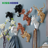 Creative Wall Decoration Poly Hard For Home Fashion Store Exquisite Hook Hanging Clothes Hat Scarf Key Jewelry Hanger Rack