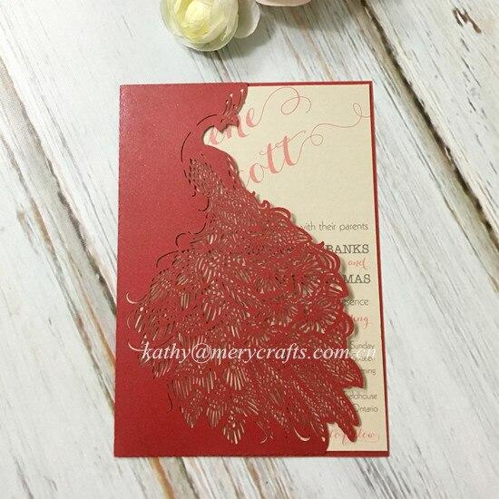 Red Maple Leave Grey Layered Fall Wedding Invitations Iwfc006