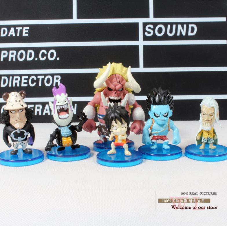 anime figures Luffy Gekko Moria Little Oz Junior Kuma Silvers Rayleigh One Piece Action Figures Toys Dolls 6pcs/set 6pcs set disney trolls dolls action figures toys popular anime cartoon the good luck trolls dolls pvc toys for children gift