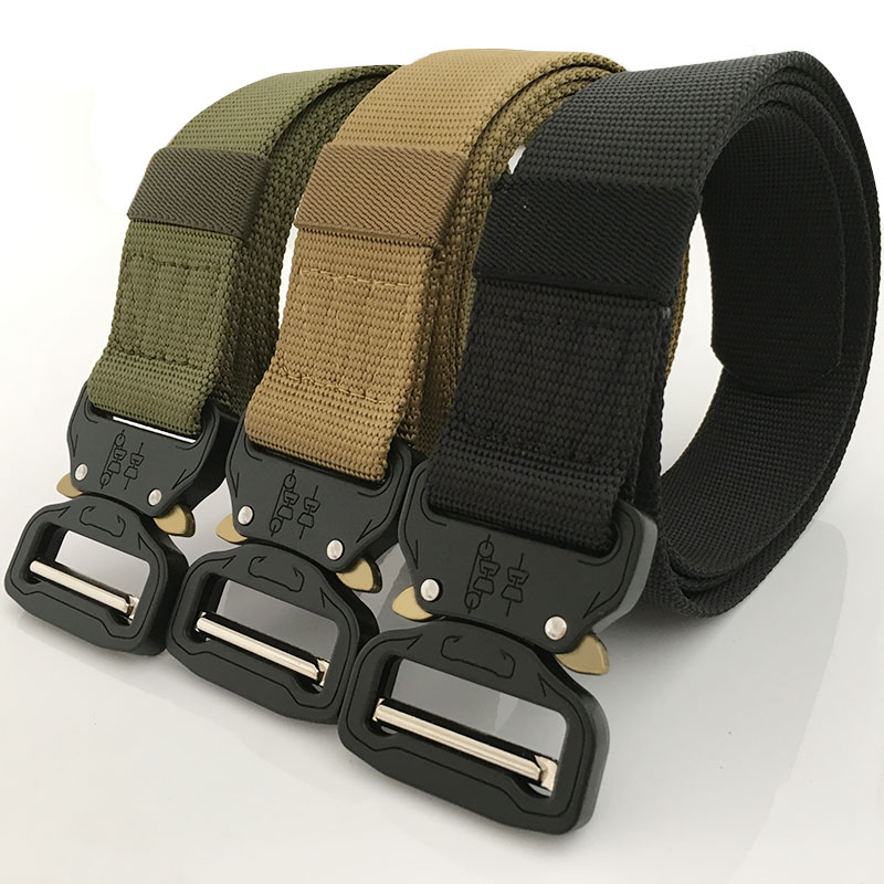 Men Fashion Belt MIlitary Web Canvas Tactical Outdoors training Buckle Women New