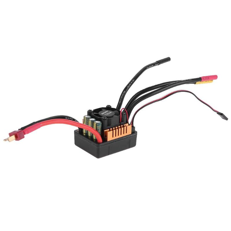 Multiple Protection functions ESC Brushless Waterproof Sensorless Speed Controller for 1/8 RC Car Truck Cart Model Parts new 7 2v 16v 320a high voltage esc brushed speed controller rc car truck buggy boat hot selling