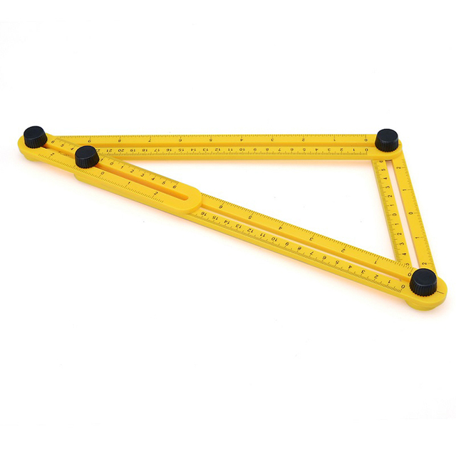 4 Colors Handymen Builders Craftsmen Tools Angle Measure Multi Ruler Template Measures All Angles