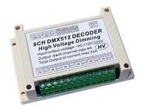 AC110V-220 v hoogspanning dimmen 6CH DMX512 Decoder 6 kanalen DMX 4A/CH HV led Decoder dimmer board Voor led Stage light lamp