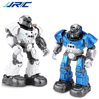 JJR/C JJRC R5 USB Charging Rotatable Arms Multifunctional Educational RC Robot Toy Blue white for Children Kids Birthday Gift