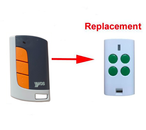 VDS ECO-R rolling code duplicate replacement remote control hand sender 433.92mhz top quality top quality replacement remote for beninca to go2wv remote control 433mhz rolling code free shipping