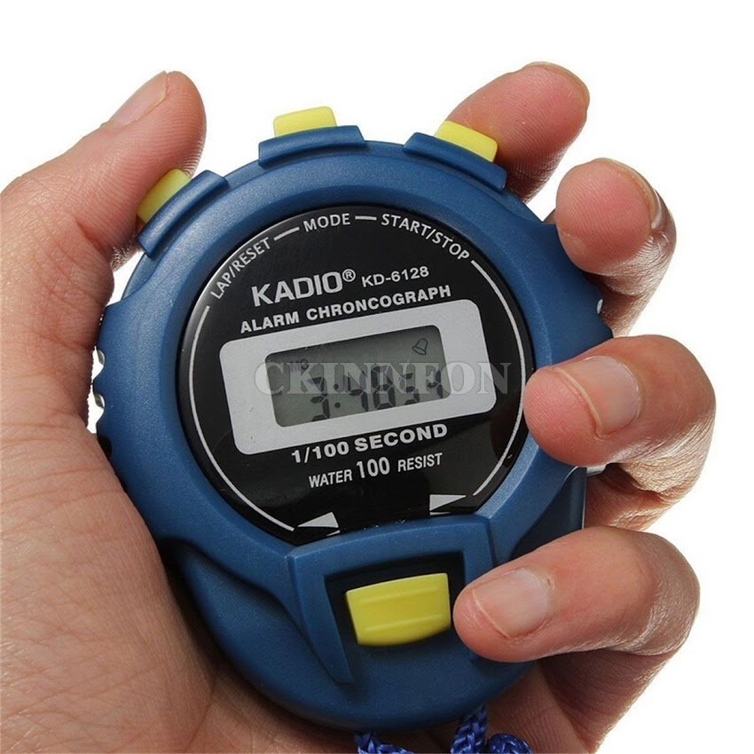 DHL 200pcs Sports Stopwatch Professional Handheld Digital LCD Sports Stopwatch Chronograph Counter Timer with Strap hot