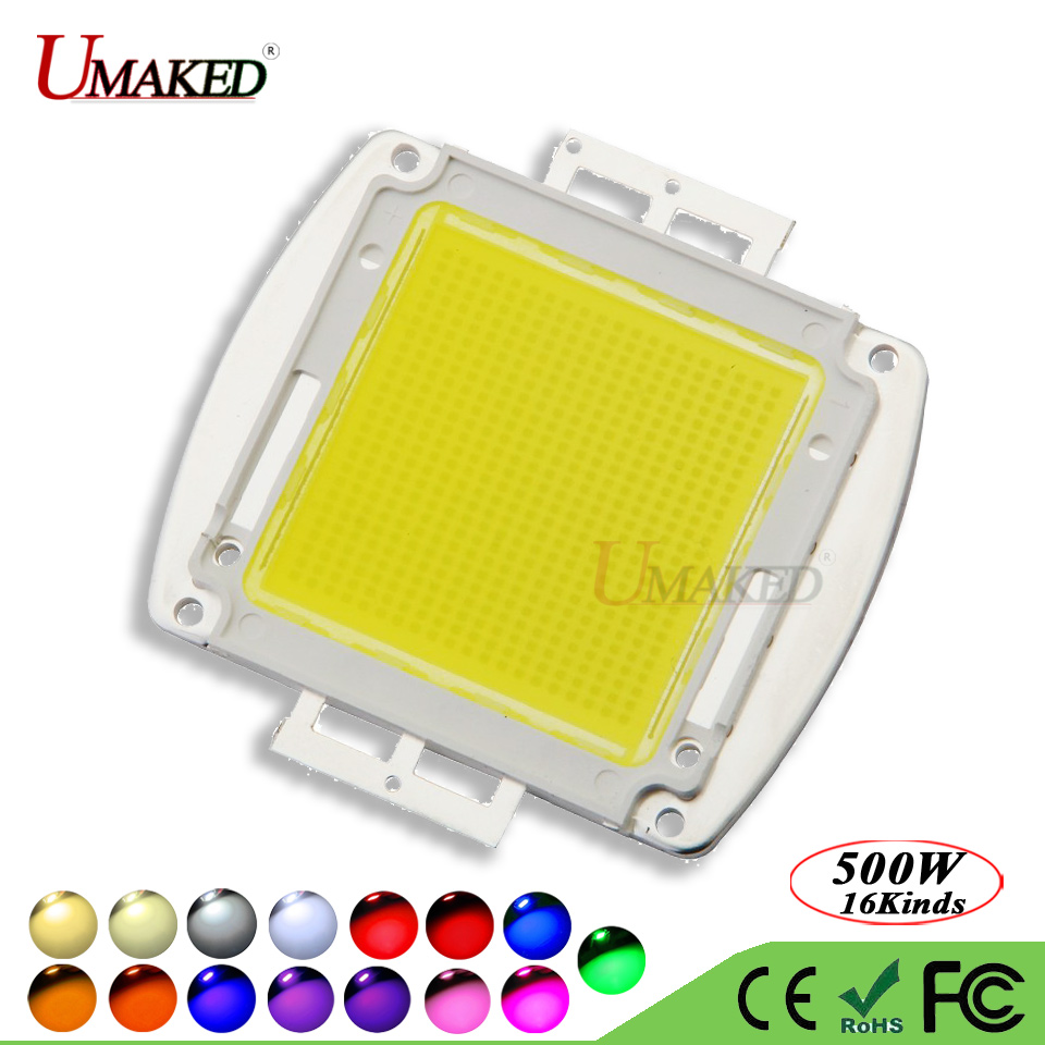 UMAKED High Power 500W LED Chip SMD Epistar 45mil Light chips Warm Natural White Cool Full Spectrum led Bulb Spotlight COB Diode high quality 30w cold warm white cob high power led stripe led light chip emitting diode bulb 3000lumen 800ma 36 39v 2pcs lot