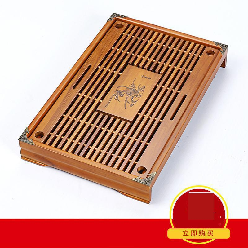 Free Shipping Wood Tea Tray High Quality 43cm 28cm 6cm Chinese Solid Tea Tray Household Tea