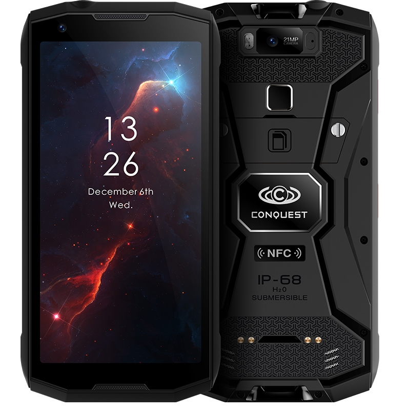 Conquête S12 Smartphone 5.99 FHD écran Android 8.1 MTK6763 Octa Core 6 GB RAM 128 GB ROM 4G étanche 8000 mAh talkie-walkie NFC