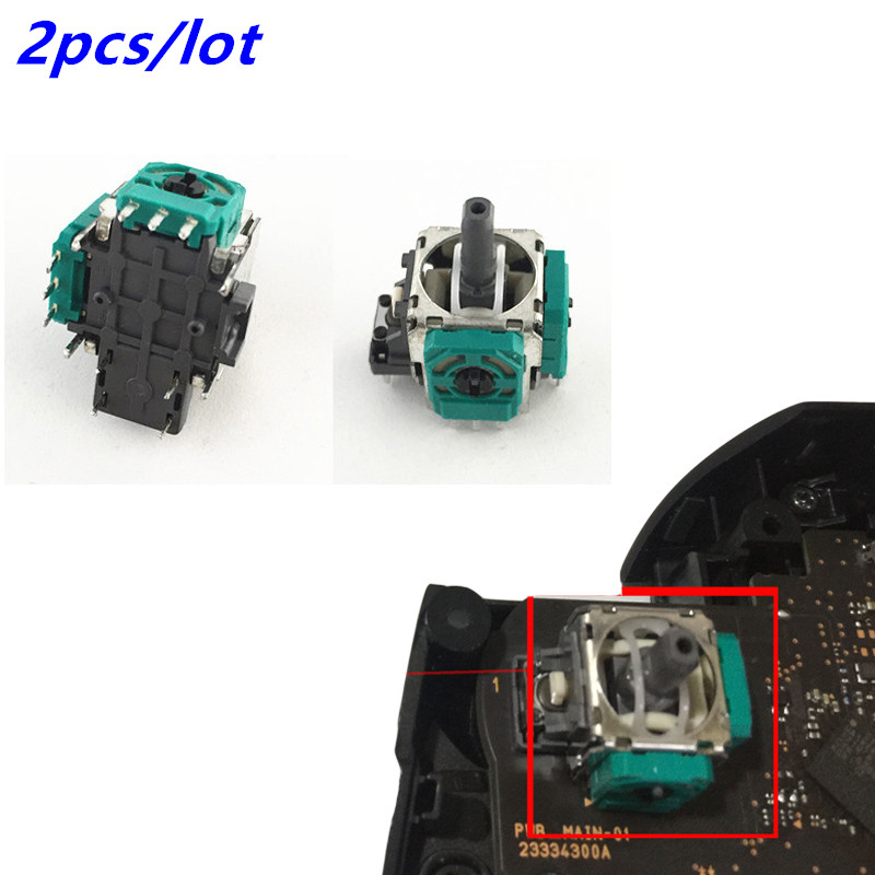 2pcs ALPS 3D Analog Joystick Thumb Sticks Joystick Sensor Module For Nintend Switch NS Pro Controller Joypad Replacement Parts