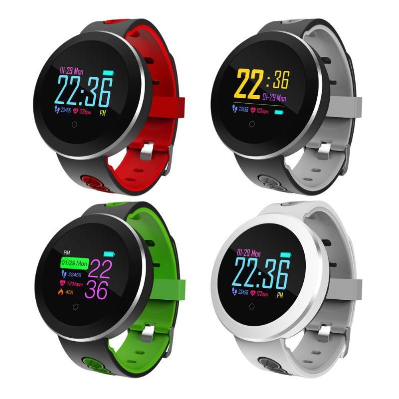 Q8Pro Bluetooth IP68 Waterproof Heart Rate Blood Pressure Sport Smart Watch