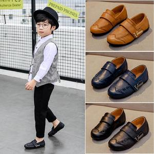 Image 4 - Genuine Leather Kids Shoes For Boys Black Dress Children Loafers Big Child Peas Shoes Student School Style Kids Moccasins Rubber