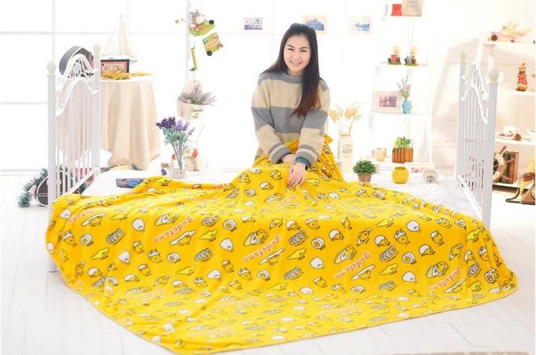 Japanese Gudetama Lazy Egg Soft Pillowcase and Blanket 1