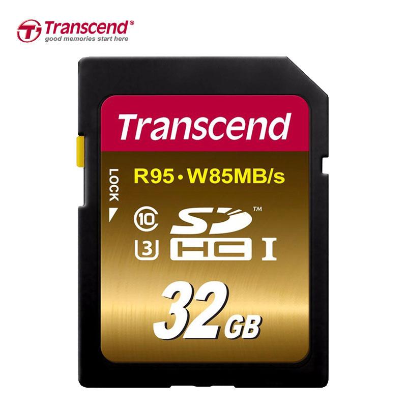 Transcend SD Card Memory Card 32GB Class 3 UHS-I U3 SDHC SDXC 4K Video DSLR DSLM Cartao De Memoria Tarjeta  phantom 3 4 inspire1 osmo x5 3 accessories aluminum carrying bag box holder protector sd sdhc cf memory card case