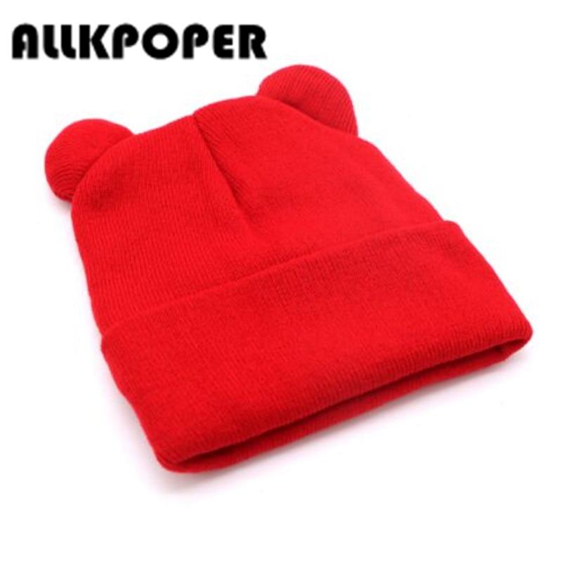 ALLKPOPER Hat Female Winter Caps Hats For Women Devil Horns Ear Cute Crochet Braided Knit Beanies Hat Warm Cap Hat Bonnet Homme