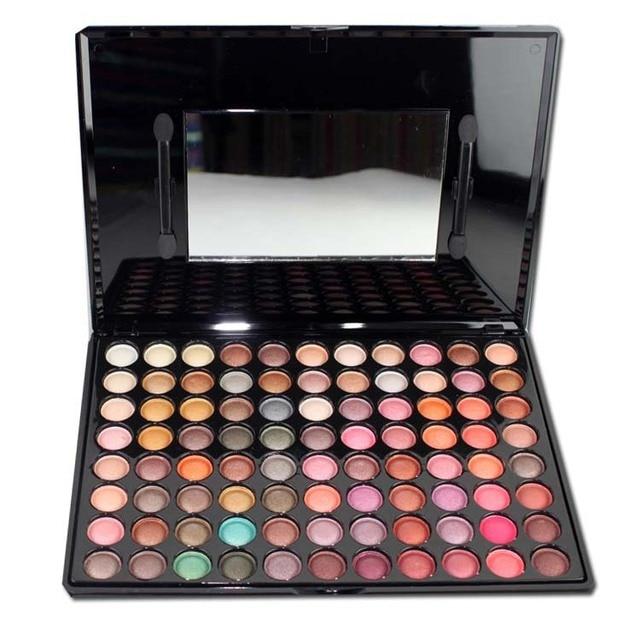 88 Metallic Color de ojos sombra de ojos paleta Kit de maquillaje Set maquillaje caja profesional