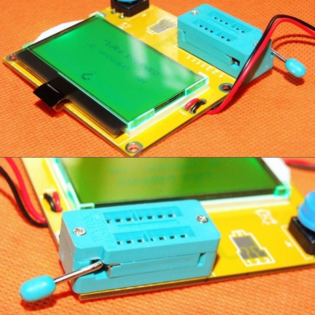 Aletler'ten Multimetreler'de 1 adet M328 LCR T4 12846 LCD dijital transistör tester ölçer arka işık diyot triyot kapasite ESR metre MOS/PNP/NPN L /C/R