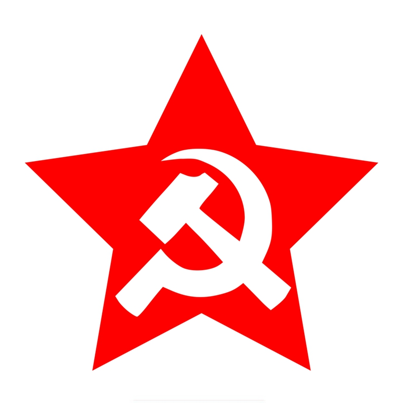 Three Ratels TZ-438 15*14.3cm 1-5 Pieces USSR STAR Hammer And Sickle In Red Star Car Stickers Car Sticker