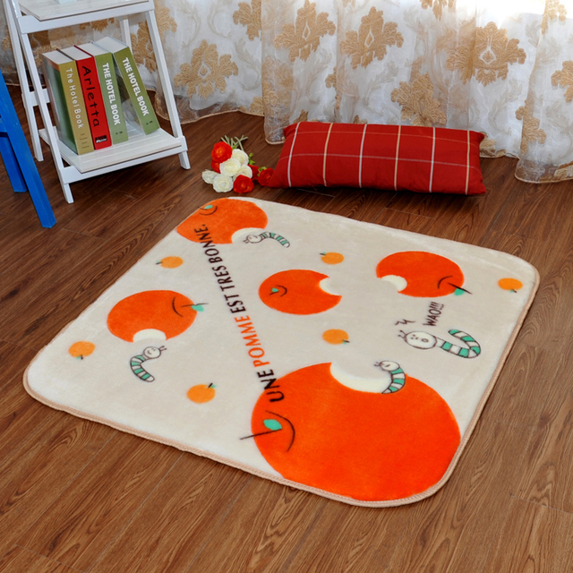 Winlife Cute Cartoon Style Kids Carpets Square Shaped Mats Anti Skid Rugs For Living Room