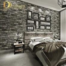 Современные винтажные кирпичные текстурированные обои для декора стен, рельефные 3D обои в рулонах для спальни, гостиной, дивана, телевизора