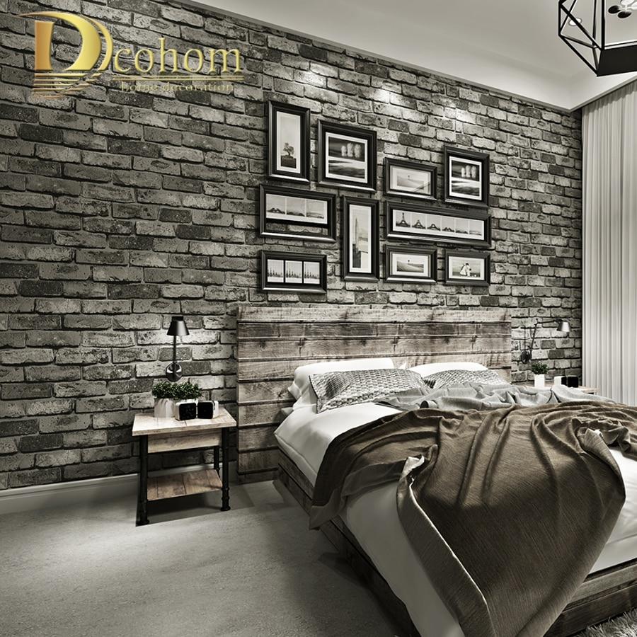 Современные винтажные кирпичные текстурированные обои для декора стен рельефные 3D обои в рулонах для спальни гостиной диван ТВ фон