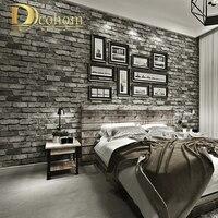 Modern Vintage Brick Textured Wallpaper For Walls Decor Embossed 3D Wall Paper Rolls For Bedroom Living