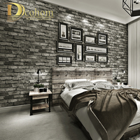 Modern Vintage Brick Textured Wallpaper For Walls Decor Embossed 3D Wall Paper Rolls For Bedroom Living