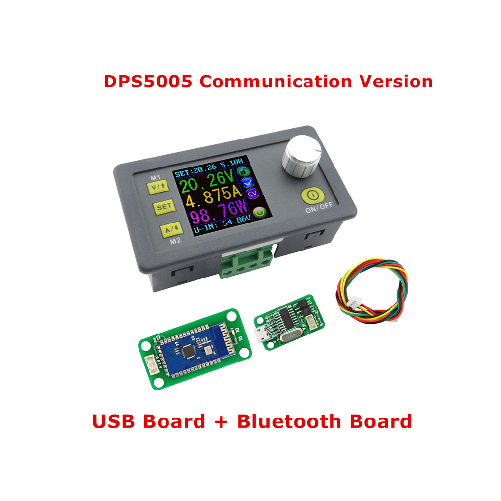 DPS5005 USB Bluetooth Communication Constant Voltage Current Step-down Power Supply Module Buck Voltage Converter Voltmeter dps5005 voltage meter regulator converter adjustable programmable power supply module buck voltmeter ammeter current tester 8%