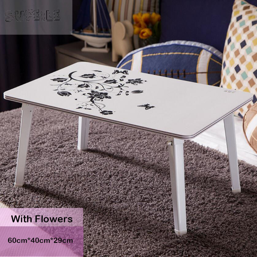 SUFEILE Portable folding table/Paint steel pipe/Multi - functional design /Removable bed computer desk/Lazy simple desk /  D15