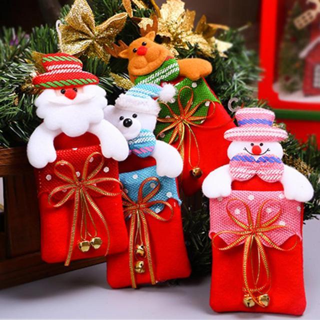 Santa Sacks Christmas Cloth Candy Covers Bag for Home Xmas Christmas ...