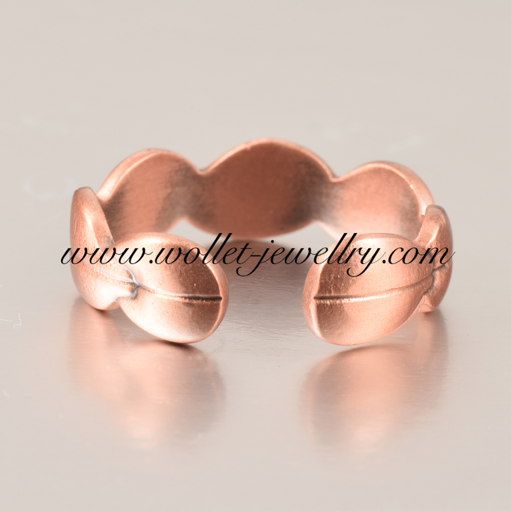 Wollet Jewelry Magnetic Copper Ring for Arthritis Men Women Adjustable Healthy