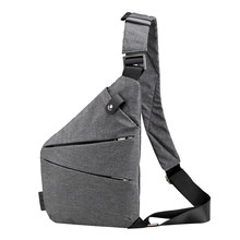Fashion Chest Bag Men Women Sling Bag Casual Canvas Chest Anti Theft Crossbody Bags High Quality Shoulder Bags Chest Packs