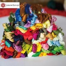 Снеговик, рукоделие вышивка 1,2 м разноцветная опция DMC613-725 10 шт./партия вышивка крестиком хлопковое шитье, моток пряжи вышивка нить