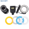 New 48 pcs RF-550D Macro LED Ring Flash Light for NIKON Canon Olympus Sony(HDMI) DSLR Cameras