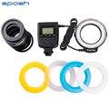 Nova 48 pcs rf-550d macro anel led flash light para nikon canon olympus sony (hdmi) câmeras dslr