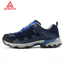 Famous Brand Men's Leather Outdoor Trekking Hiking Shoes Sneakers For Men Sports Wearable Climbing Mountain Shoes Man Senderismo