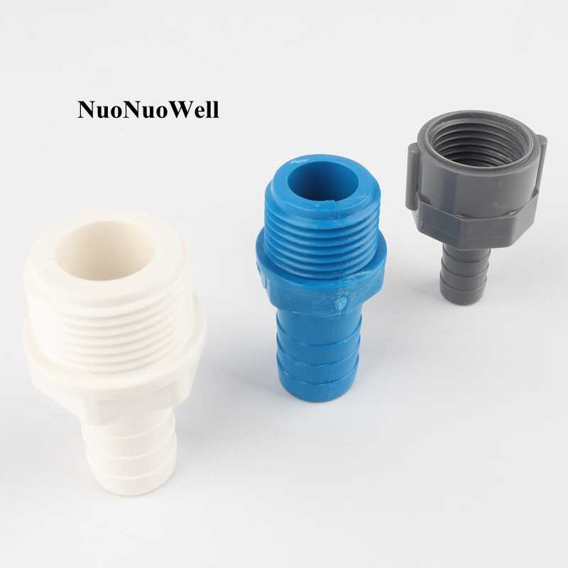 "5pcs PVC 1/2"" 3/4"" Thread To 8~16mm Pagoda Joints Garden Irrigation Fittings Water Pipe Connectors Aquarium Fish Tank Adapter"